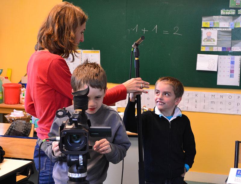 Atelier mené par Sophie Bosquet auprès des enfants de l'IMP de Etrépagny en 2013