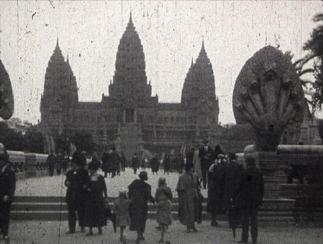 Photogramme issu du film : Exposition coloniale à Paris de Charles Daoust, 9,5mm, NB, 1931 ©POLE IMAGE HAUTE-NORMANDIE