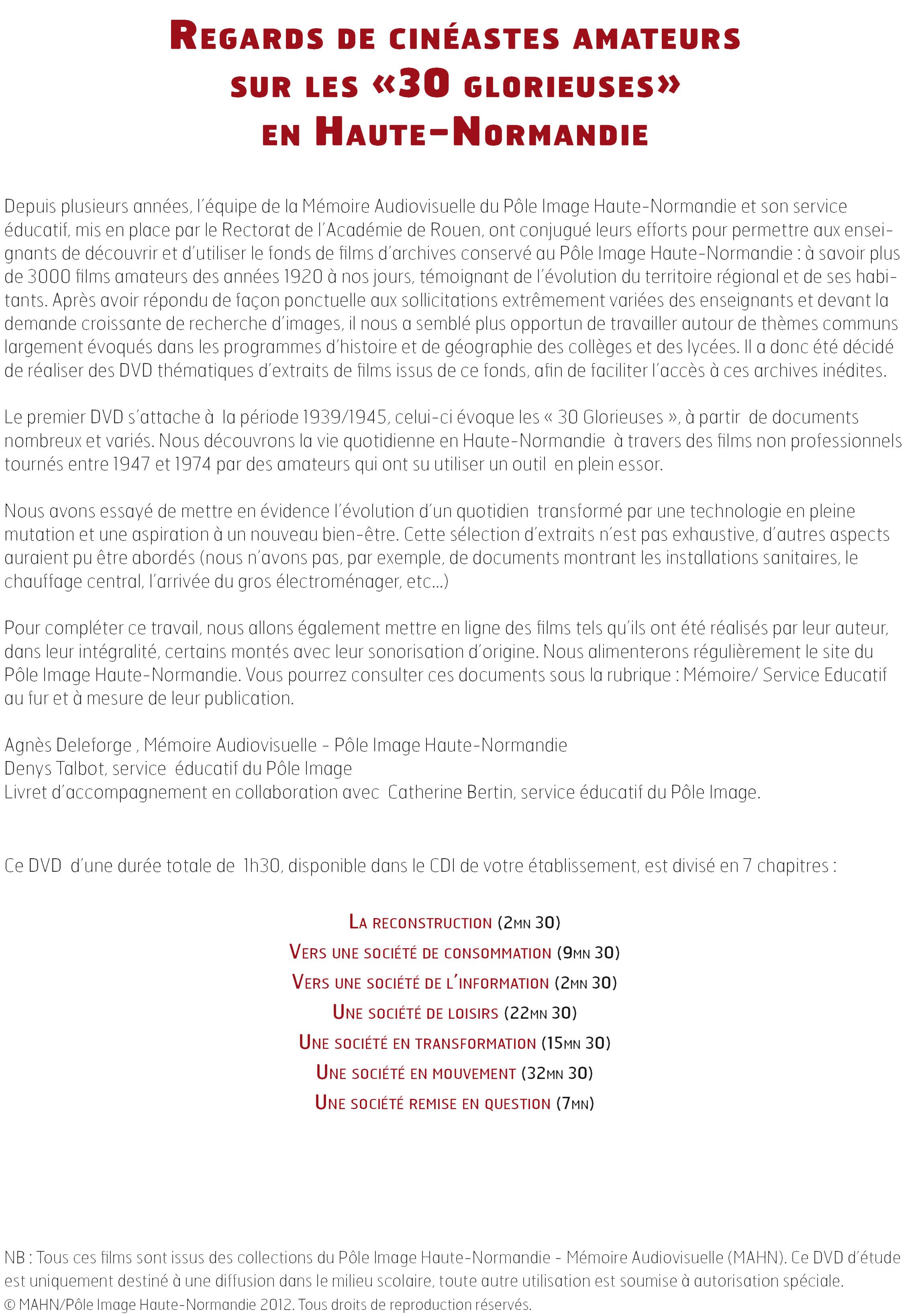 Regards de cinéastes amateurs sur les «30 glorieuses» en Haute-Normandie