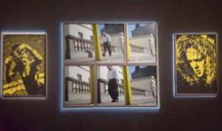 Vue de l'installation d'Eamonn Doyle aux Rencontres d'Arles, 2016